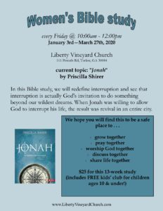 "Women's Bible Study - ""Jonah"""