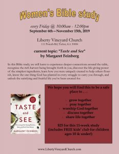 "Women's Bible Study - ""Taste and See"""