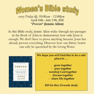 "Women's Bible study - ""Proven"""