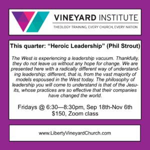 Vineyard Institute [Zoom] - The Pentateuch