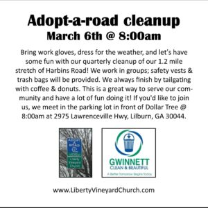 Adopt-a-road cleanup